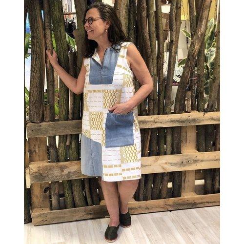 Jurk Mokola van handgeweven Batakari stof