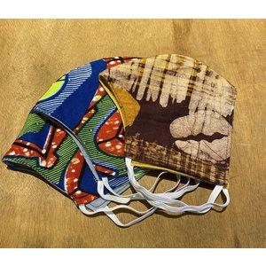 Mondkapje van Afrikaanse stof