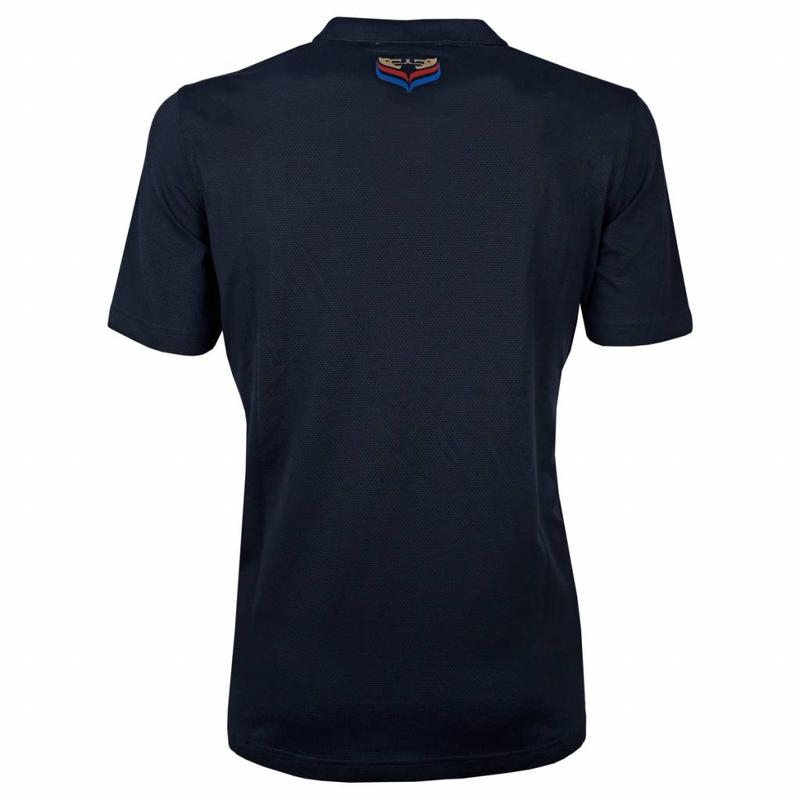 Q1905 Heren Polo JL Flag Deep Navy