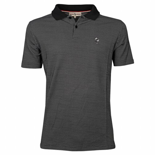 Men's Golf Polo JL Flag Black / White