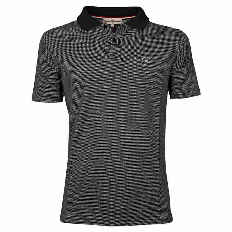 Q1905 Heren Polo JL Flag Black / White