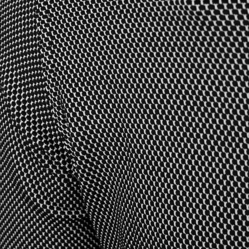 Q1905 Men's Golf Polo JL Flag Black / White