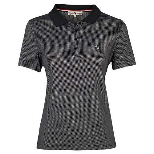 Women's Golf Polo Square Black / White