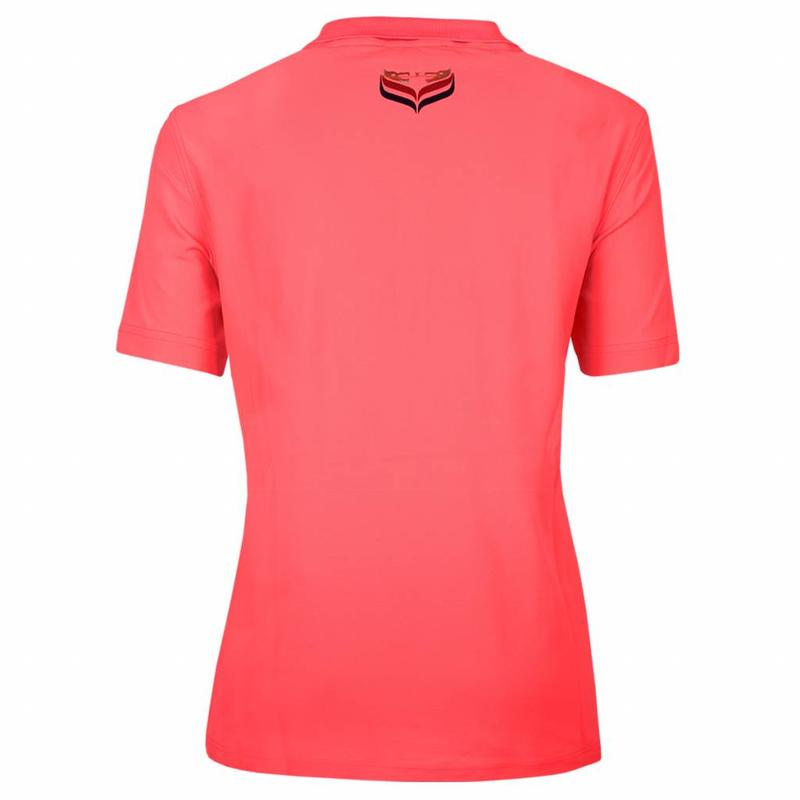 Q1905 Dames Polo Square Lightning Pink