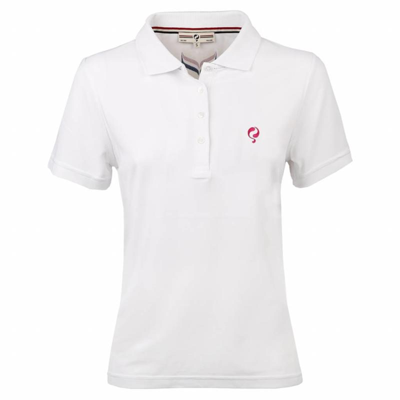 Q1905 Dames Polo Square White
