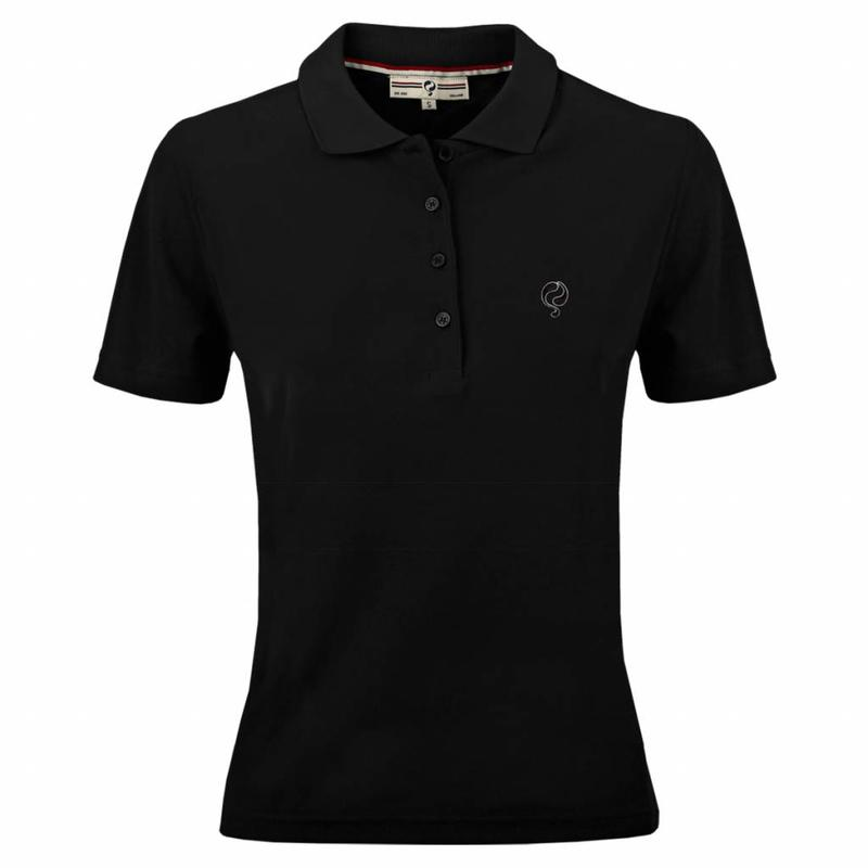 Q1905 Dames Polo Square Black