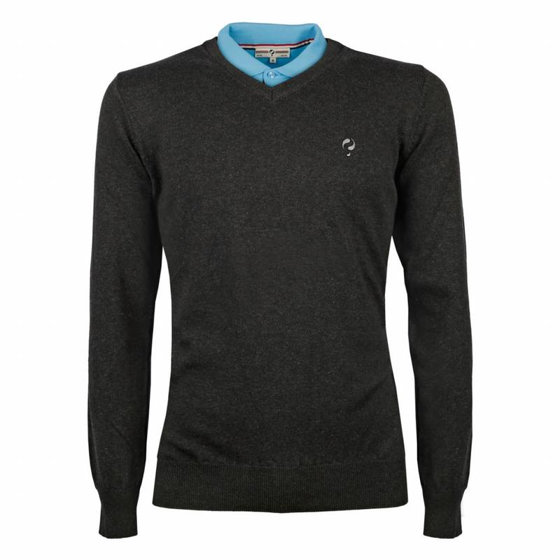 Q1905 Men's Pullover V-neck Marden Antracite