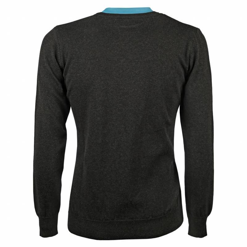 Q1905 Heren Pullover V-neck Marden Antracite