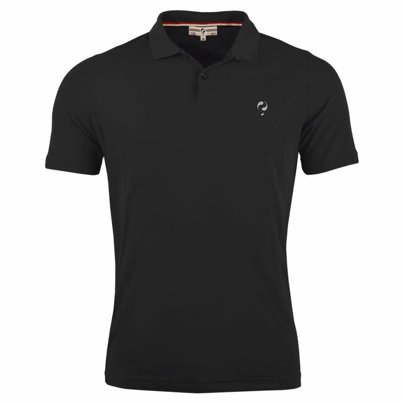 Q1905 Men's Golf Polo JL Flag Black