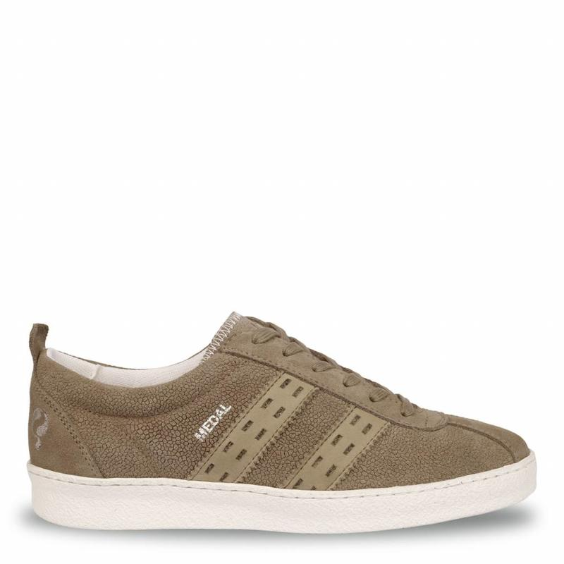 Q1905 Dames Sneaker Medal Lady Taupe Grey