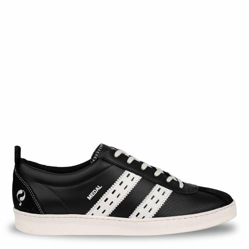 Q1905 Heren Sneaker Medal Black / White