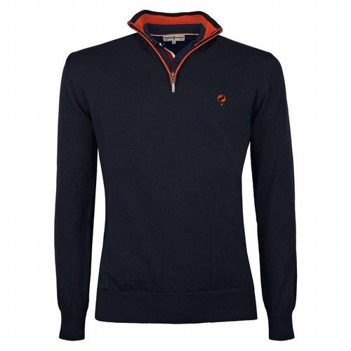 Heren Pullover Stoke - Deep Navy / Orange