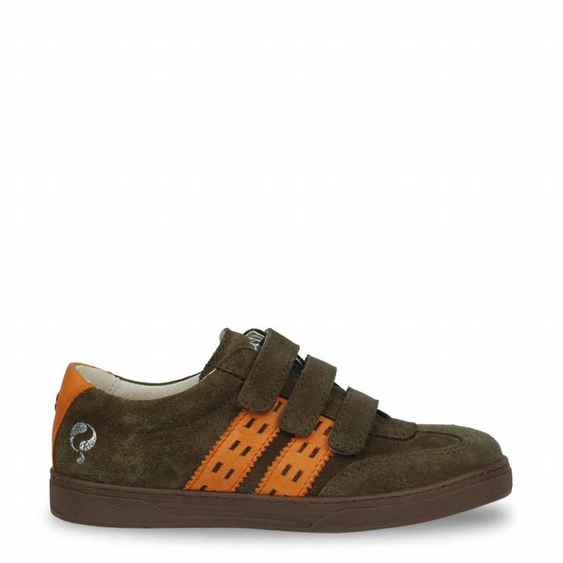 Q1905 Kids Sneaker Legend '69 JR Army Green / Warm Orange