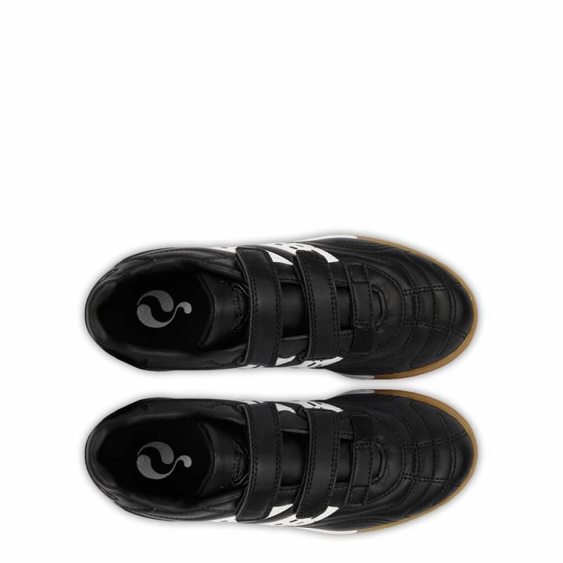 Q1905 Football Boot Goal JR Indoor Velcro Black / White