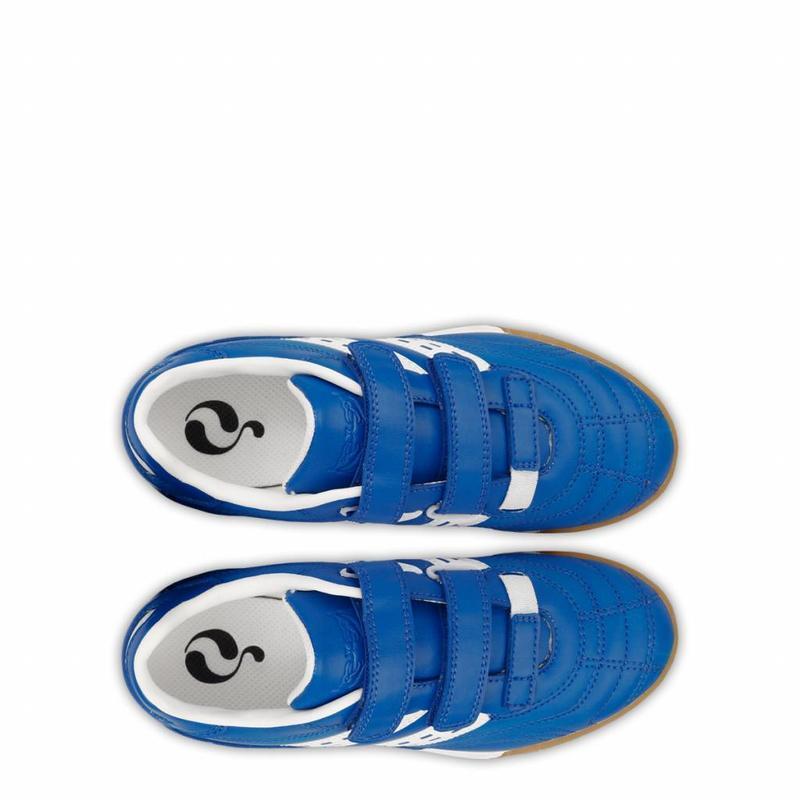 Q1905 Voetbalschoenen Goal JR Indoor Velcro Skydiver / White (28-33)