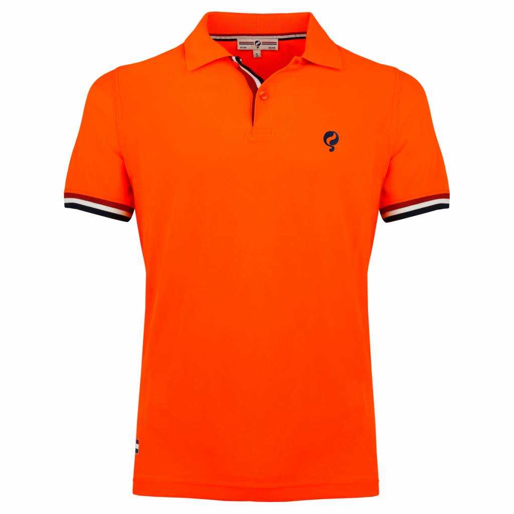 Q1905 Heren Polo Joost Luiten Neon Orange