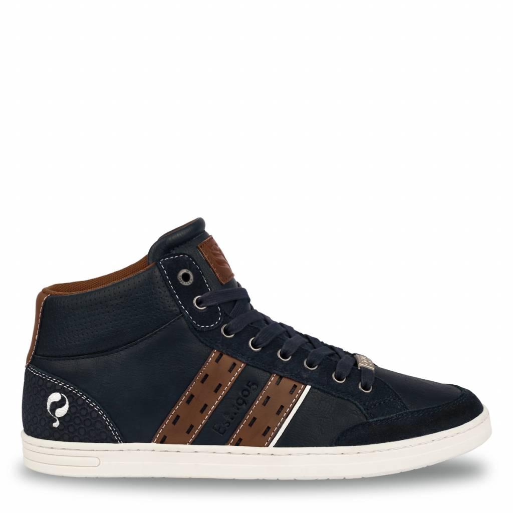 Q1905 Heren Sneaker Bryce Deep Navy - Cognac