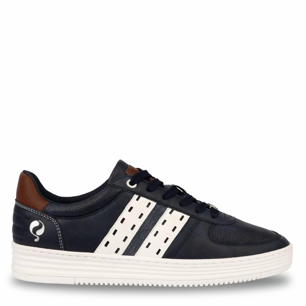 Q1905 Heren Sneaker Colton Jeans Blue - Cloud Dancer