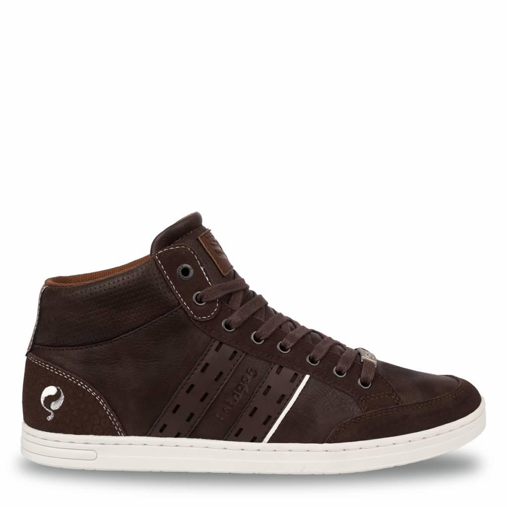 Q1905 Heren Sneaker Bryce Dk Brown - Cognac
