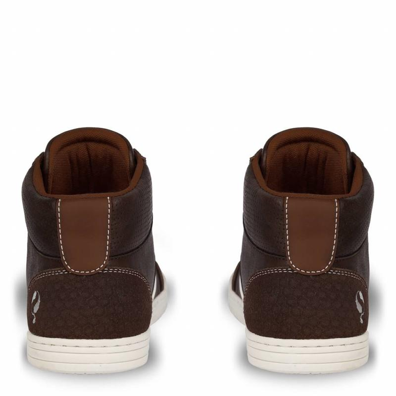 Q1905 Heren Sneaker Bryce Dk Brown / Cognac