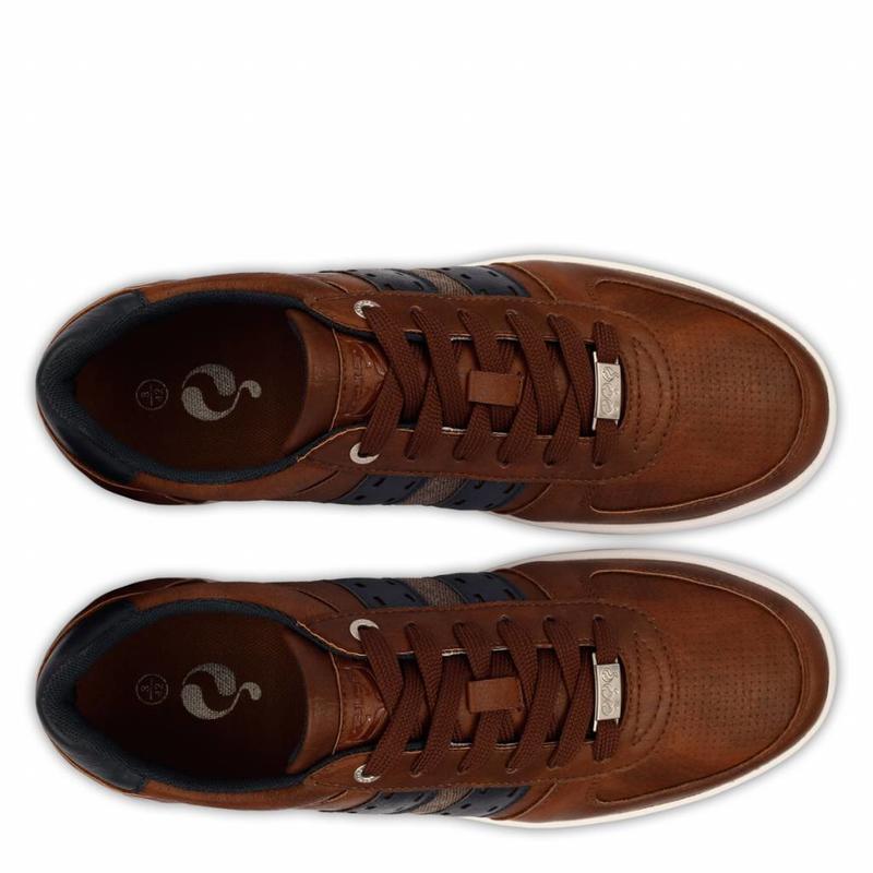 Q1905 Heren Sneaker Colton Cognac / Deep Navy