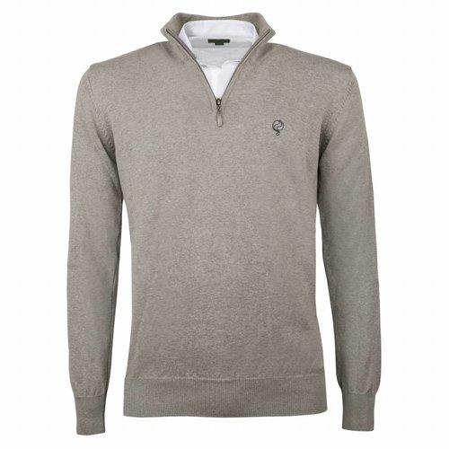 Men's Pullover Half Zip Stoke Light Grey