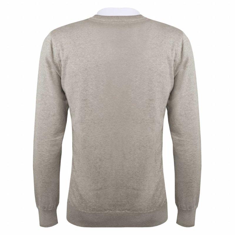 Q1905 Men's Pullover V-neck Marden Light Grey Skydiver / Silver