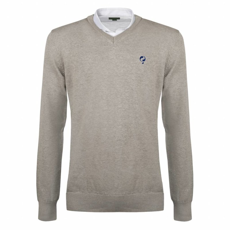 Q1905 Heren Pullover V-neck Marden Light Grey Skydiver / Silver