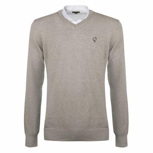Men's Pullover V-neck Marden Light Grey Silver / Black