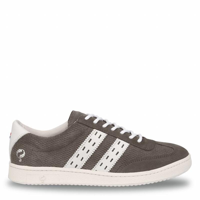 Q1905 Heren Sneaker Legend '69 Stone Grey / White