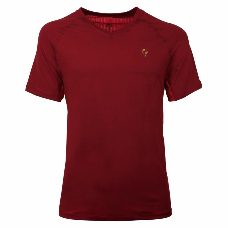 Q1905 Men's Tee Brush mesh Q Sundried Tomatoes