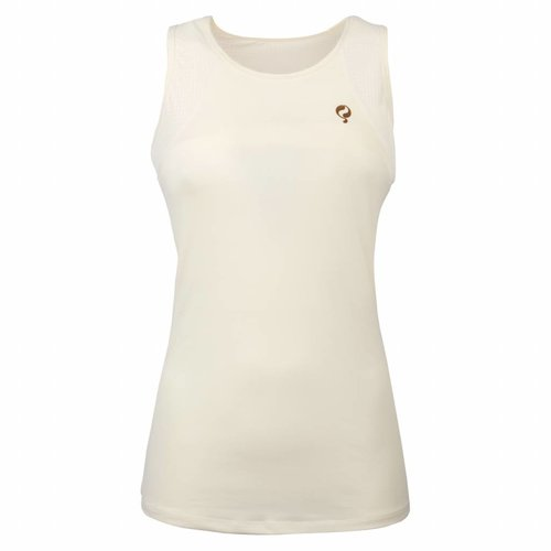 Dames Tanktop Brush Q Snow White