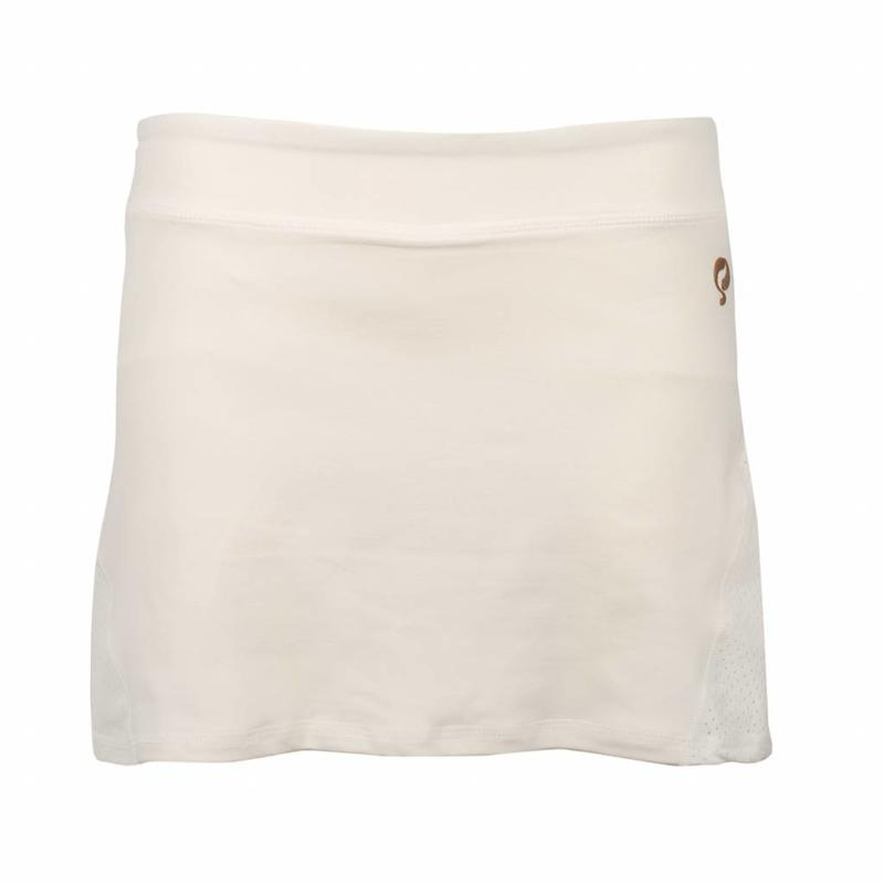 Q1905 Dames Skort Brush Mesh Q Snow White