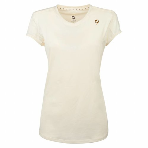 Women's Tee Brush mesh Q Snow White