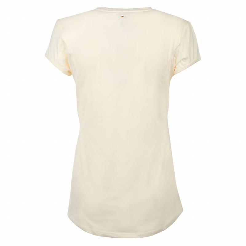 Q1905 Dames Tee Brush mesh Q Snow White