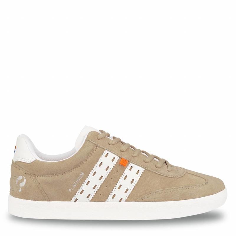 Q1905 Heren Sneaker Platinum Soft Taupe / White