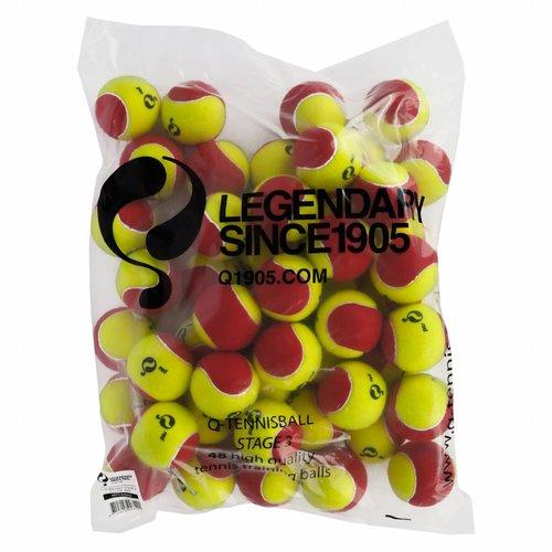 Q-Tennisbal ST3 48pcs/bag Yellow-Red