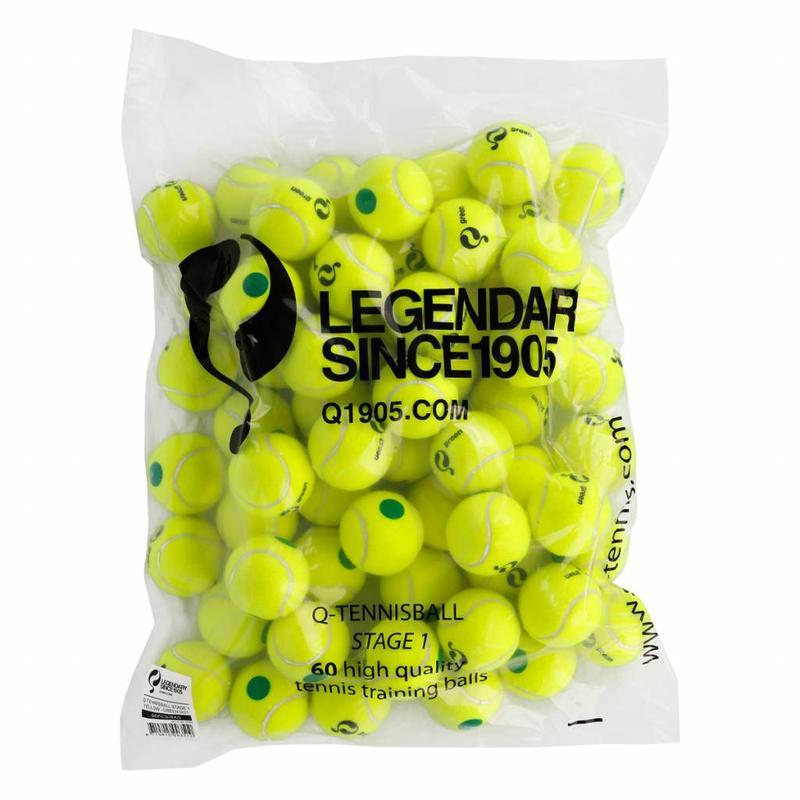 Q1905 Q-Tennis Ball ST1 60pcs/bag Yellow-Green Dot