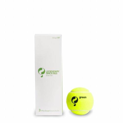 Q-Tennisbal ST1 3pcs/can Yellow-Green Dot