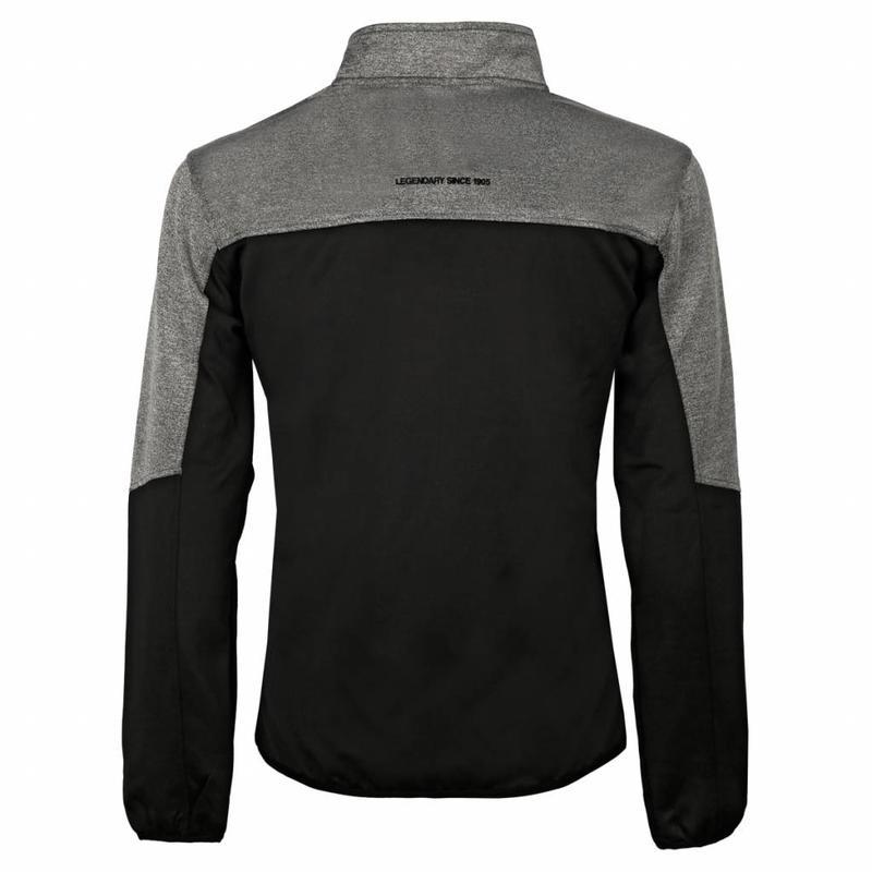 Q1905 Heren Sweater Vreven Zwart / Grijs / Wit