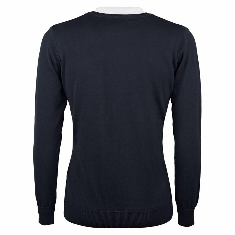 Q1905 Heren Pullover V-neck Marden Deep Navy