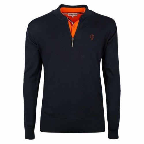 Men's Pullover Half Zip Chester Deep Navy