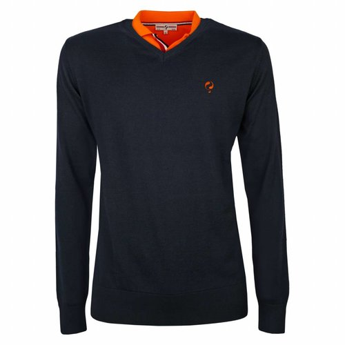 Men's Pullover V-neck Luton Deep Navy