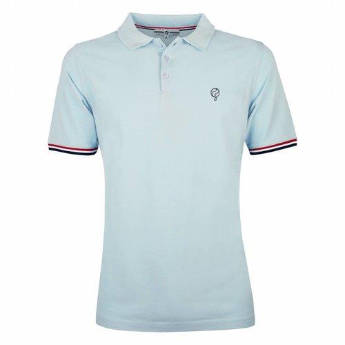 Men's Polo Shirt Bloemendaal Skyway Blue - Silver / Deep Navy