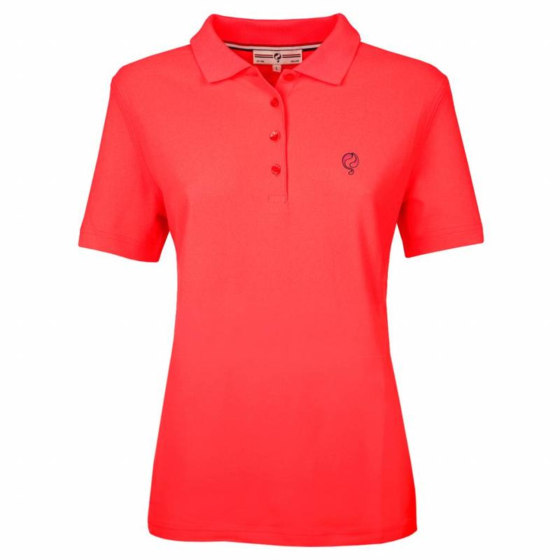Q1905 Women's Polo Square Fiery Coral