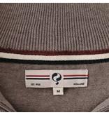 Q1905 Men's Pullover Half Zip Stoke Mid Brown