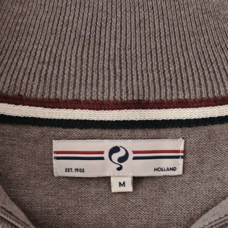 Men's Pullover Half Zip Stoke Mid Brown
