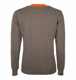 Heren Pullover V-neck Marden Mid Brown