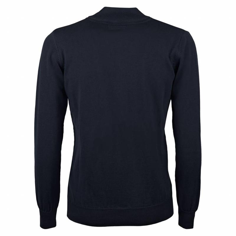 Heren Pullover Half Zip Chester Deep Navy