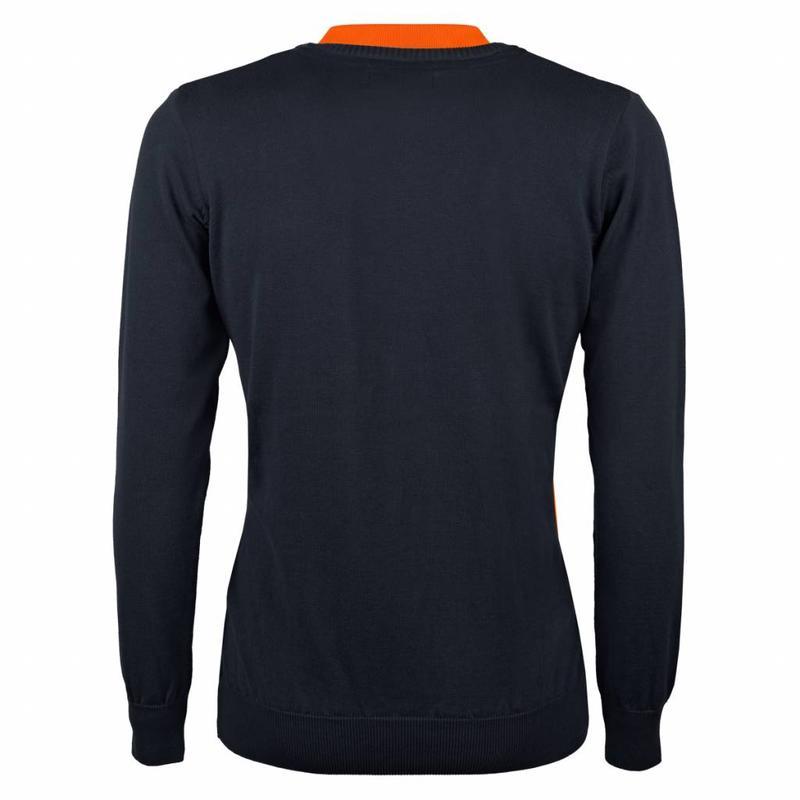 Q1905 Heren Pullover V-neck Luton Deep Navy